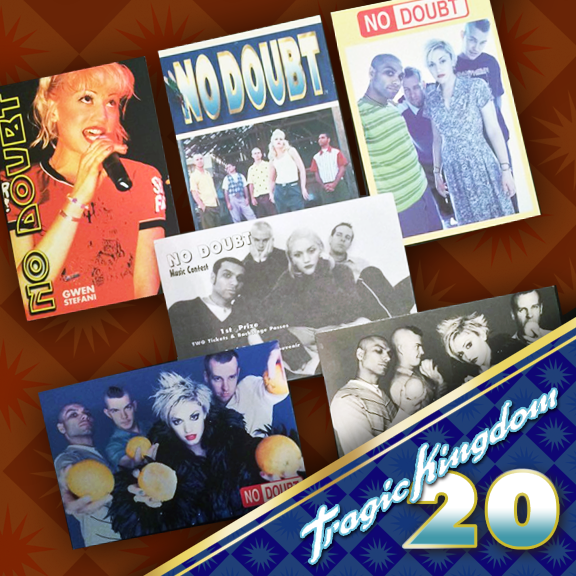 Who remembers collecting these official and promotional No Doubt postcards back in the Tragic Kingdom days? Just a few are pictured here including a rarity for a contest in Canada. #tragickingdom20