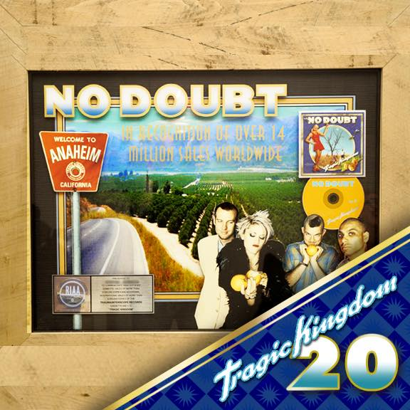 A stellar plaque made for #tragickingdom ...an album that sold over 16 million sales worldwide! #tragickingdom20