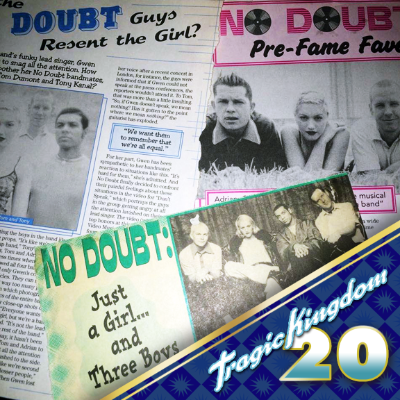 Who remembers the Tragic Kingdom days when No Doubt saturated most pop/teen magazines like Bop and Tiger beat? There would always be a pinup or if you were really lucky a 4 or even 6 page spread (that you would tack on to your wall to join the wall of others you had) and an article about the band. Those were the days! #tragickingdom20 #tk20