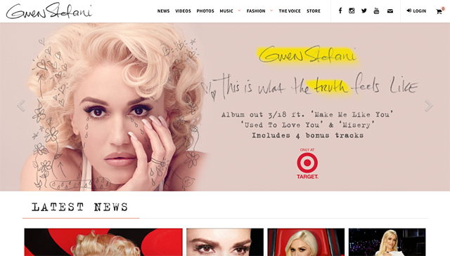 Photo courtesy of GwenStefani.com