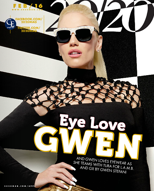 Gwen Covers '20/20′ Magazine for February